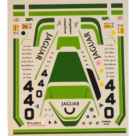 1:24 Decal Jaguar XJR5 Le Mans 1984/1985, Profil 24