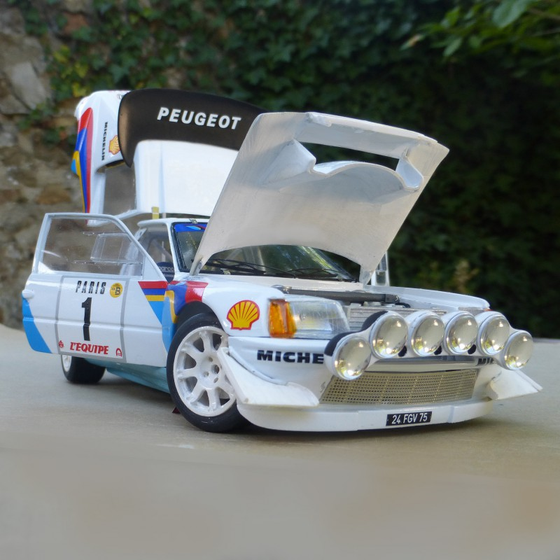 Peugeot 205 Turbo Evo 2 1986 Model Kit 1 24