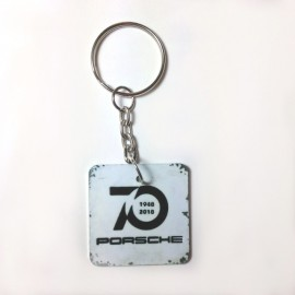 Key Ring 70th birthday Porsche Square Format