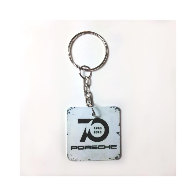 Key Ring 70th birthday Porsche Square Format - profil24-models