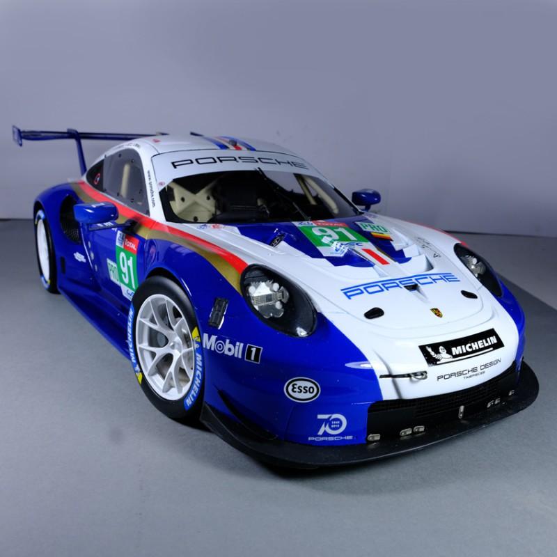Porsche 911 Car: Porsche 911 #91 RSR Le Mans 2018 Model Car 1:12
