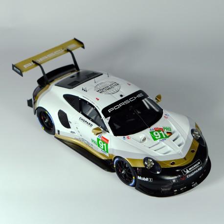 1/24 Porsche 911 RSR GT Pro Gold Le Mans 2019, model kit car Profil 24