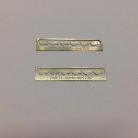 1/24 hood/bonnet Pins GT Photoetched, Profil 24