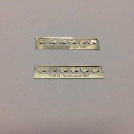 1/24 hood/bonnet Pins GT Photoetched, Profil 24