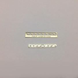 1/24 lumières de numéro photodécoupe, Profil 24