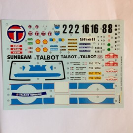 1/24 Decal Talbot Sunbeam Lotus 1981 Profil 24