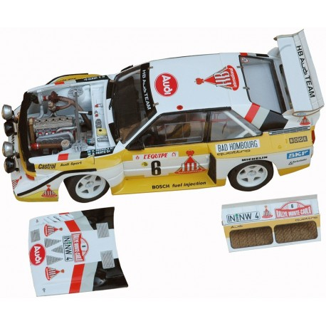 1/24 Audi S1 n°2 & 6 Monte Carlo 1986 model kit car Profil 24