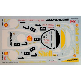 Decals Porsche Shell