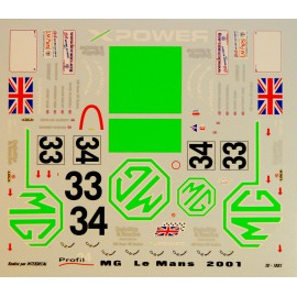 Decals MG Lola  Le Mans 2001