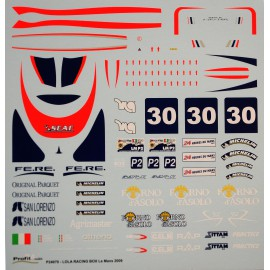 1/24 Decal Lola racing Box Le Mans 2009, Profil 24