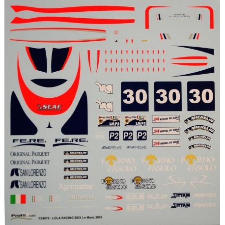 Decals Lola racing Box
